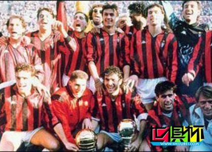 1989年意大利AC米兰1比 0小胜哥伦比亚麦德林民族竞技