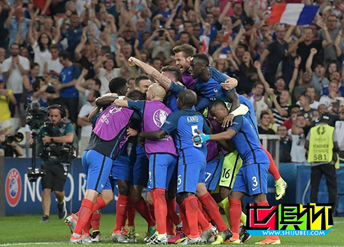 2016年7月8日欧洲杯半决赛法国队2-0力克德国队晋级决赛