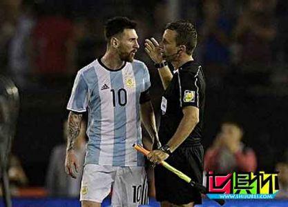 FIFA对梅西骂裁判开启调查 或无缘战玻利维亚