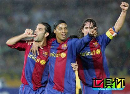 2006世俱杯-巴萨4球横扫演完美风暴 决赛战南美王者