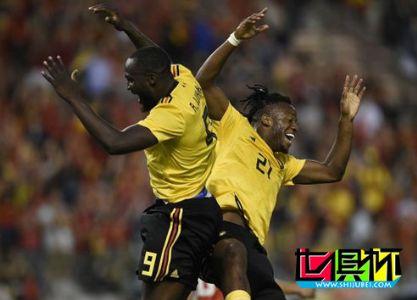 2018世界杯热身赛比利时4-1哥斯达黎加 卢卡库2射1传