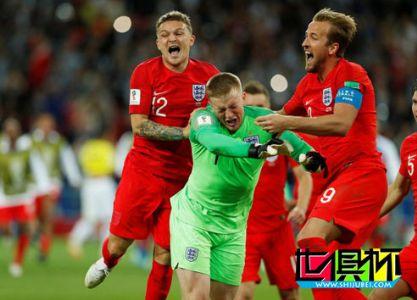 2018世界杯,英格兰5-4哥伦比亚进8强将战瑞典 皮克福德神扑