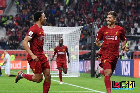 2019世俱杯半决赛利物浦2:1战胜蒙特雷 决赛对战弗拉门戈