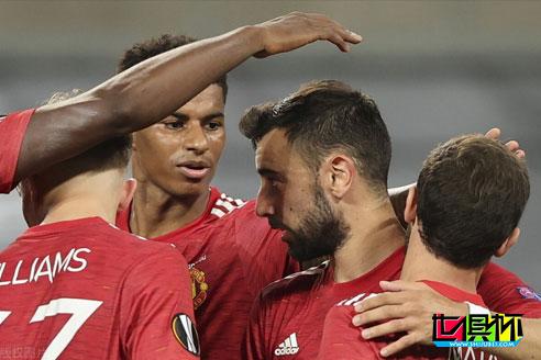 欧联杯1/4决赛曼联1-0击败哥本哈根晋级四强,B费点球建功