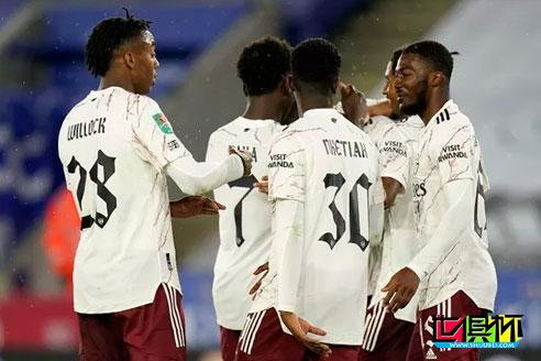 英联赛杯,阿森纳2:0战胜莱斯特城,本赛季各项赛事取得四连胜