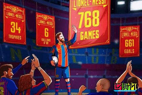 巴萨客场6-1大胜皇家社会,梅西造2球,第768战创队史新纪录