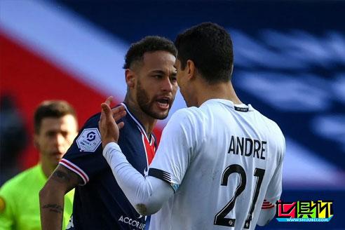 内马尔与对方球员冲突,法甲联盟纪律委员可能会从严处罚