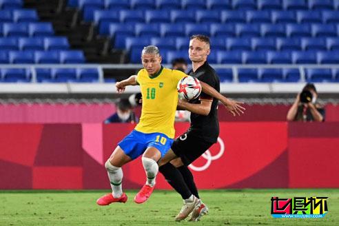 东京奥运会男足开赛,巴西4:2击败德国,阿根廷0:2不敌澳大利亚